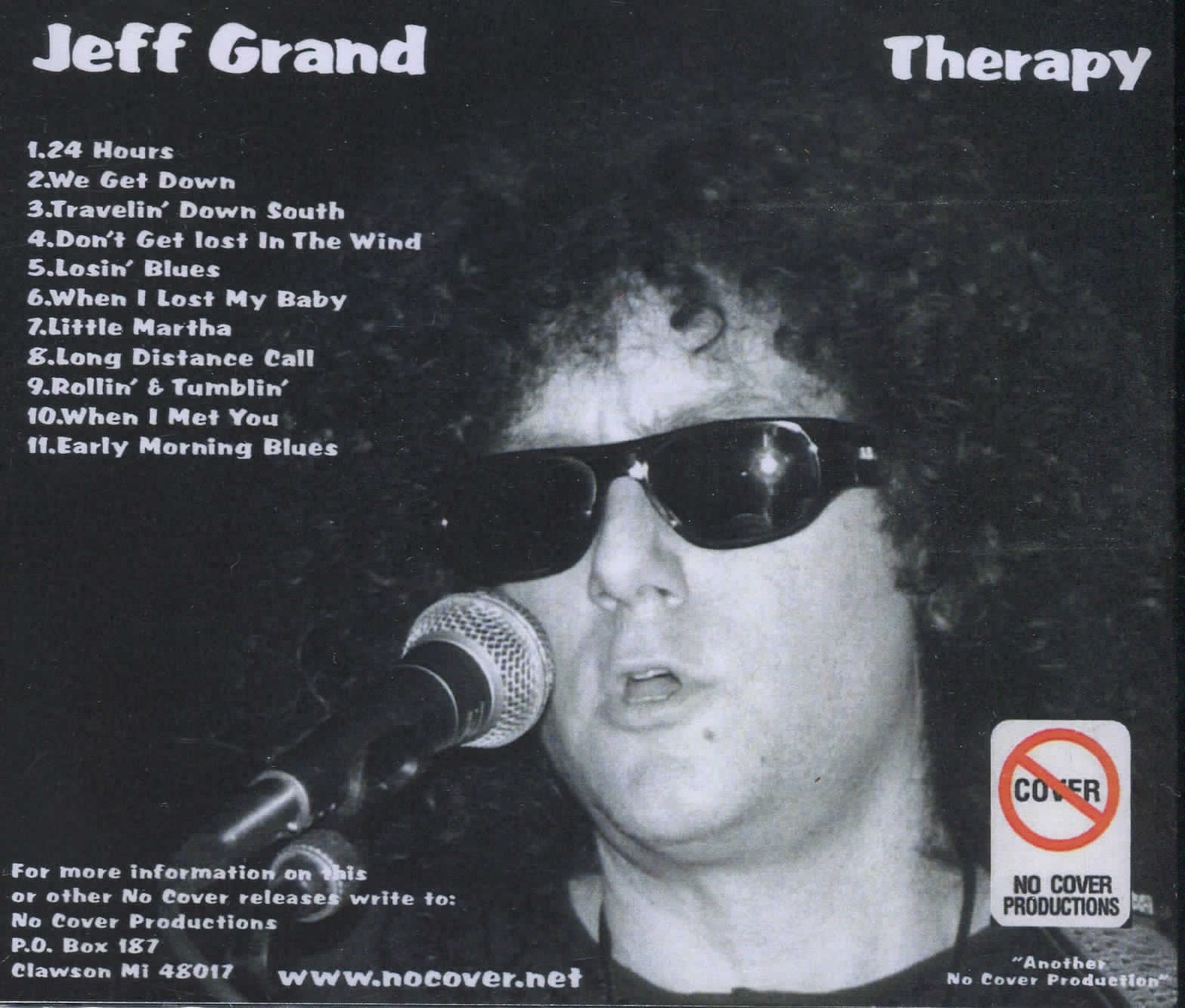 "Back cover of ""Therapy"" CD"